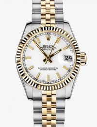 Replique Rolex Datejust 31mm en acier et or jaune Lunette cannel