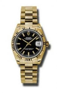 Replique Rolex Datejust 31mm Or President or jaune
