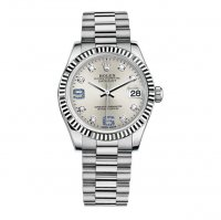 Replique Rolex Datejust 31mm President Femme or blanc Lunette ca