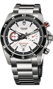 Replique Tudor Grantour Chrono Fly-Back Cadran Blanc Acier inoxy