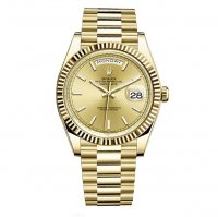 Replique Rolex Day-Date 40 Automatique Champagne Dial or jaune 1