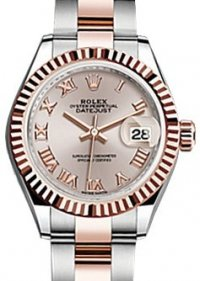 Replique Rolex Datejust 28 Sundust Roman Fluted Rose Or 279171