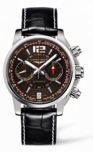 Replique Longines Admiral Chronographe Bracelet Marron L3.666.4.