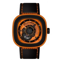 Replique SevenFriday P1-3 en acier inoxydable/PVD/Orange