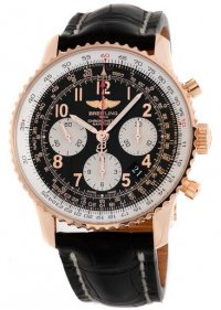 Replique Breitling Navitimer 01 Rose Or Noir Crocodile deployant