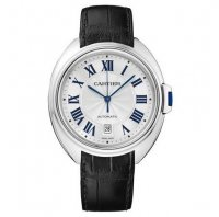 Replique Cartier Cle De Cartier Automatique en or blanc 40mm WGC