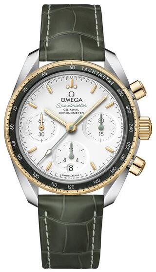Replique Omega Speedmaster 38mm Co-Axial Lunette Verte 324.23.38
