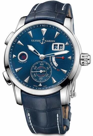 Replique Ulysse Nardin Dual Time Manufacture 42 mm