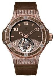 Replique Hublot Big Bang Tutti Frutti Tourbillon Brun Pave 345.P