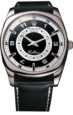 Replique Rolex Cellini Danaos XL 18k or blanc cadran noir 4243/9