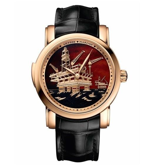 Replique Ulysse Nardin Classic Minute Repeater Rose Or Oil 736-6