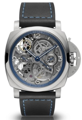 Replique Panerai Lo Scienziato Luminor 1950 Tourbillon GMT Titan