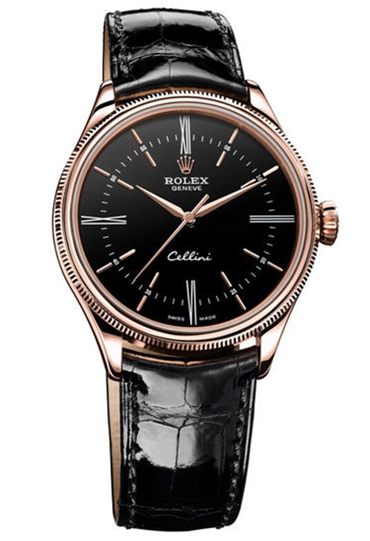 Replique Rolex Cellini Heure Everose Gold 50505 bkbk