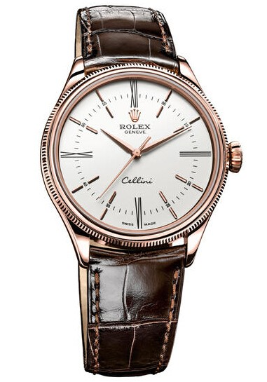 Replique Rolex Cellini Heure Everose Gold 50505 wbr