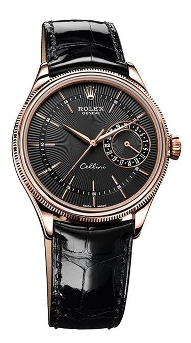 Replique Rolex Cellini Date Everose Gold 50515 bkbk