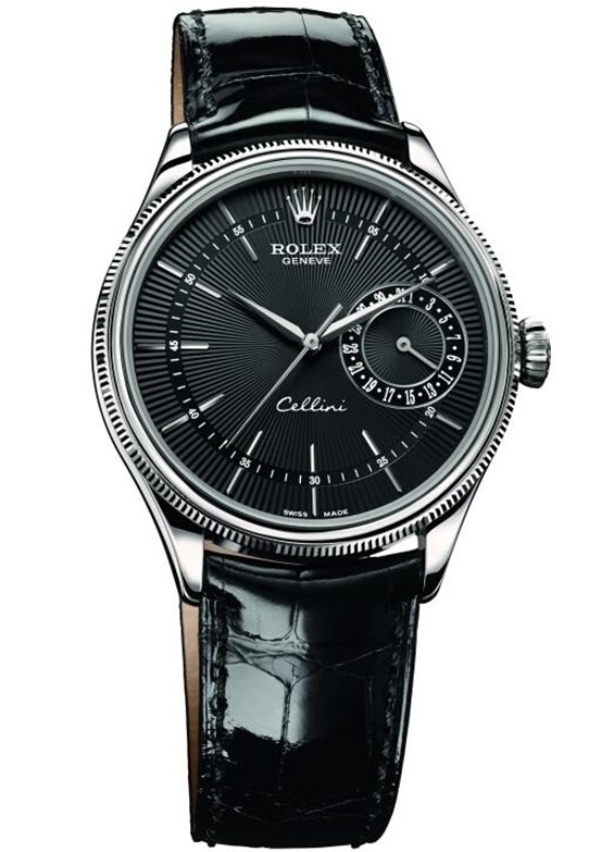 Replique Rolex Cellini Date en or blanc 50519 bkbk