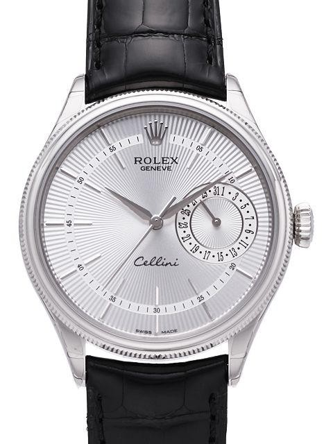 Replique Rolex Cellini Date en or blanc 50519 sbk