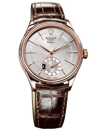 Replique Rolex Cellini Dual Time Everose Gold 50525 sbr