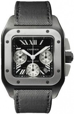 Replique Cartier Santos 100 Carbon Titane and Steel Extra Large