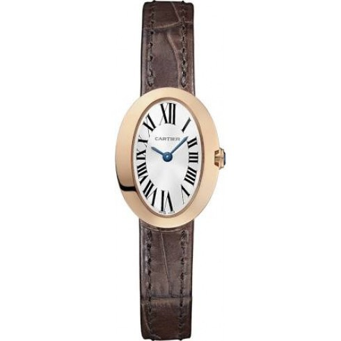 Replique Cartier Baignoire Mini Quartz Rose Or W8000017