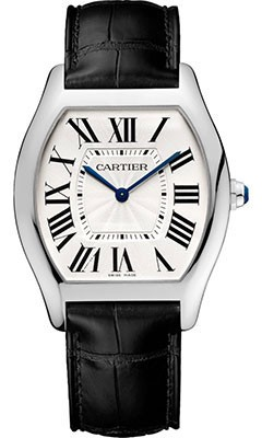 Replique Cartier Tortue montre en or blanc WGTO0003