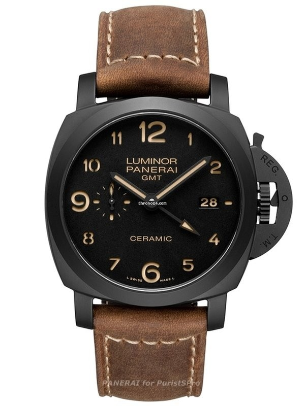 Replique Panerai Luminor 1950 3 Jours GMT Automatique Ceramica P