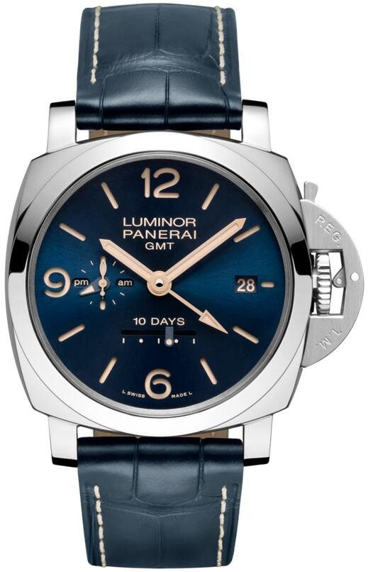 Replique Panerai Luminor 1950 10 Jours GMT Automatique Acciaio 4