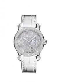 Chopard Happy Snowflakes en edition limitee en or blanc et diamants 18K